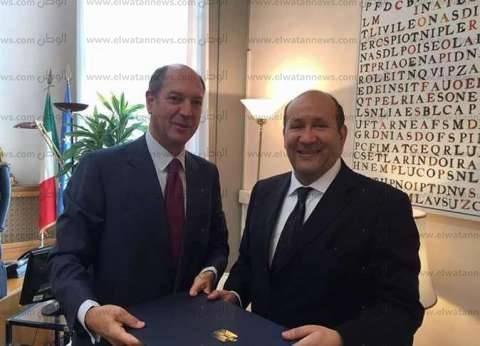 أول صورة لسفير مصر في إيطاليا بعد تقديم أوراق اعتماده