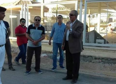 محافظ البحر الأحمر يتفقد أعمال تطوير شارعي النصر والكهف