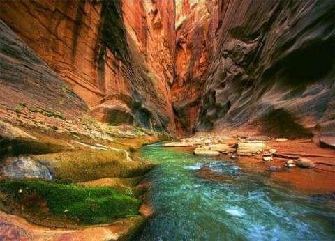 صور.. quotالأخدود الملونquot إحدى عجائب الطبيعة في جنوب سيناء