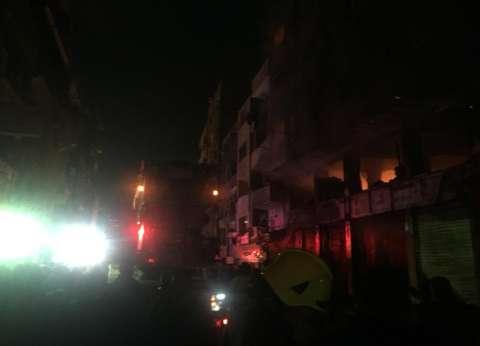 بالصور| محافظ القاهرة من موقع حريق الزاوية: دخلنا مرحلة التبريد