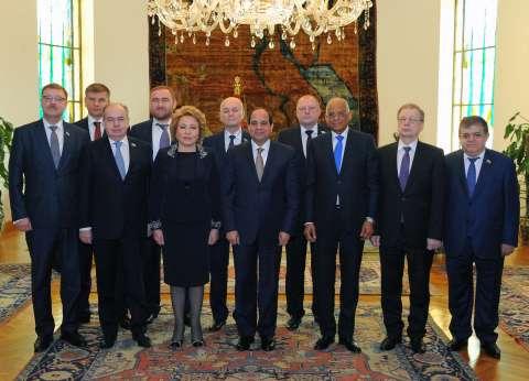 """رئيسة """"الفيدرالي الروسي"""" لـ""""السيسي"""": مصر صاحبة دور محوري في الشرق الأوسط"""