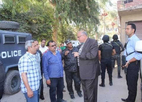 بالصور| مدير أمن دمياط يتفقد الحملات الأمنية بالبصارطة وأم الرضا