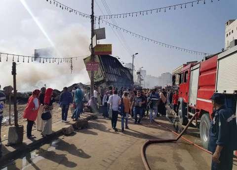السيطرة على حريق هائل في معرض السوري ببنها