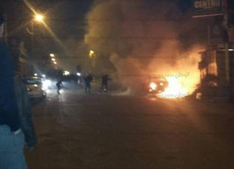 """""""الحماية المدنية"""" تدفع بـ15 سيارة إطفاء لإخماد حريق خط غاز دمياط- بورسعيد"""