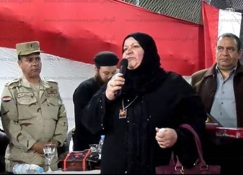 أمهات الشهداء يروين بطولات أبنائهن بيوم الوفاء في المنصورة