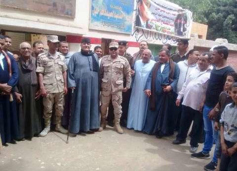 تزايد أعداد الناخبين أمام اللجان بمدينة ساقلتة بسوهاج