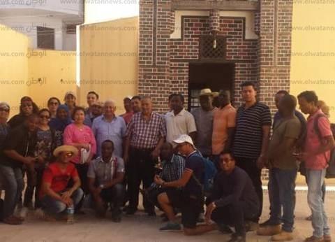 وفد أجنبي من ثلاث قارات يزور آثار فوة في كفر الشيخ