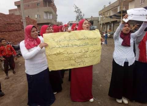 مسيرة لتلاميذ مدرسة ثانوية بالشرقية لحث الأهالي على التصويت
