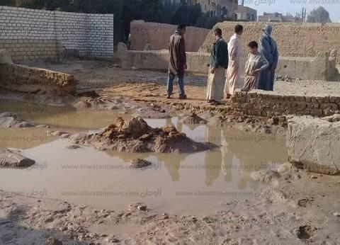 كثافات مرورية بشارع ممدوح سالم بالقاهرة بعد كسر ماسورة مياه