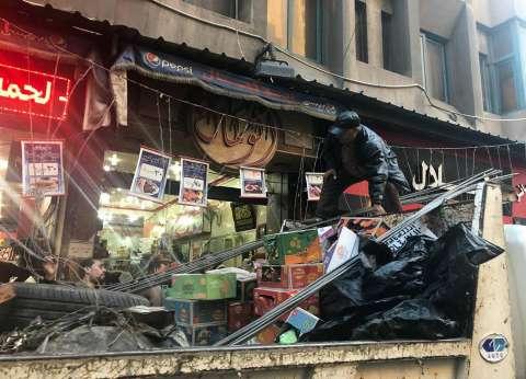 حملة مكثفة لرفع إشغال الطريق بحي شرق بالإسكندرية