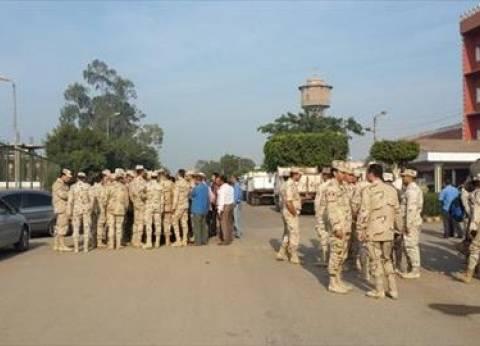 """القائم بأعمال رئيس """"شبين القناطر"""" يستقبل وفدا من قوات تأمين الانتخابات"""