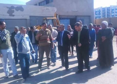 رئيس شركة مياه البحر الأحمر يتفقد روافع محطات المياه