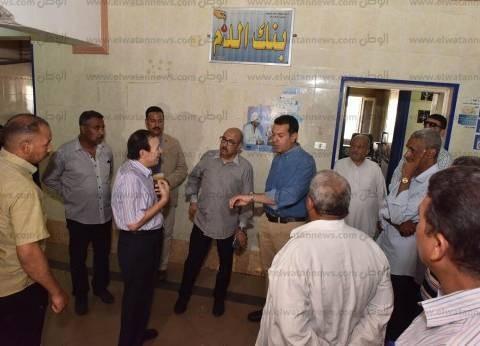 محافظ أسيوط يفاجئ مستشفيات ووحدات صحية في مركزي صدفا وأبو تيج