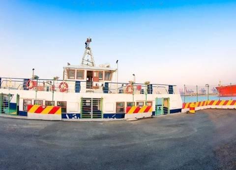 بدء تشغيل معدية لنقل العاملين بشركة قناة السويس للحاويات بشرق بورسعيد