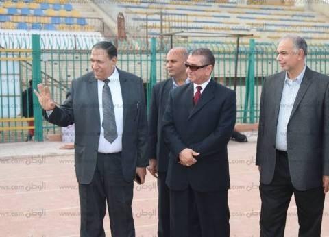 محافظ كفر الشيخ يشهد تدريب الفريق الأول للكرة قبل لقاء أبو قير للأسمدة