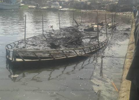 """تفحم اللانش """"نادر الوجود"""" ببحيرة المنزلة وإصابة 7 مواطنين"""