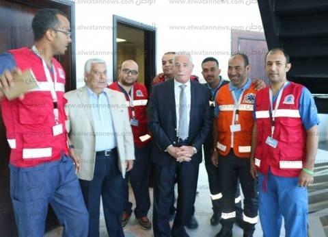 بالصور| محافظ جنوب سيناء يتفقد مركز العمليات بقاعة مؤتمرات المنتدى