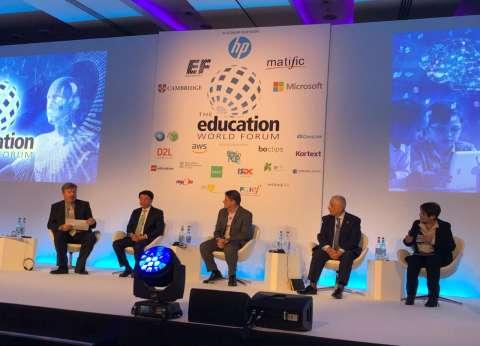 طارق شوقي يلقي محاضرة في المنتدى العالمي للتعليم