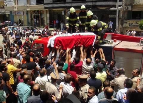 بالصور| جنازة عسكرية وشعبية لتشييع جثمان رئيس مباحث شربين في الدقهلية