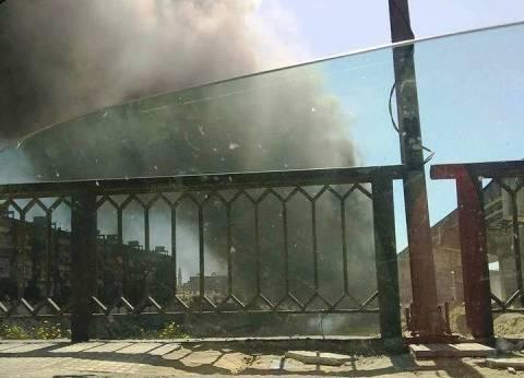 إخماد حريق نشب بجوار ترعة النوبارية غرب الإسكندرية