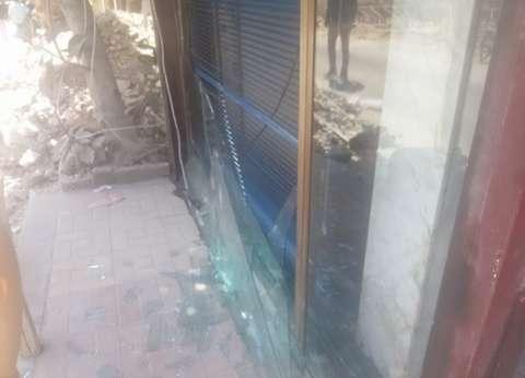 تحطم واجهات المحال التجارية على بعد 7 كيلو من تفجير الإسكندرية