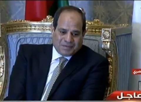 السيسي يستقبل محمود عباس بمقر إقامته في الدمام