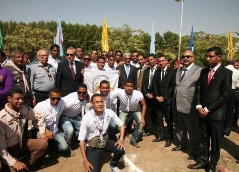 افتتاح المعسكر الدولي الثامن لجوالي وجوالات الجامعات المصرية