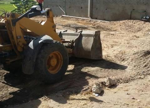 بالصور| حملة لإزالة التعديات على الأراضي الزراعية في كفر سعد بدمياط