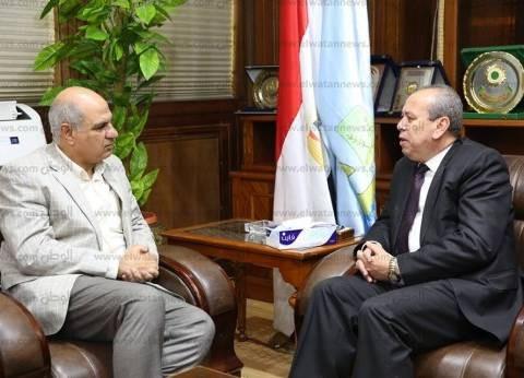 رئيس جامعة كفر الشيخ يدعو المحافظ لحضور مؤتمر دولي مع جامعة UCL بلندن