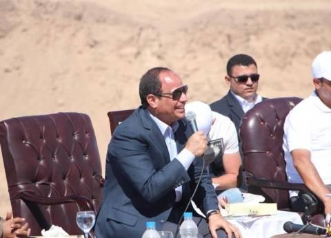 عاجل| السيسي: آن الأوان أن تنعم أرض سيناء بالأمن.. وسنحقق طموحات أهلها
