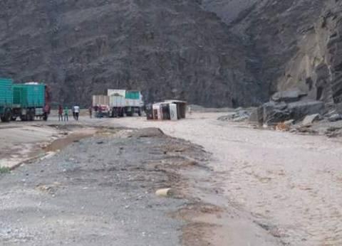 سيول قوية تجتاح وادي فيران ومحافظ جنوب سيناء يعلن حالة الطوارئ القصوى