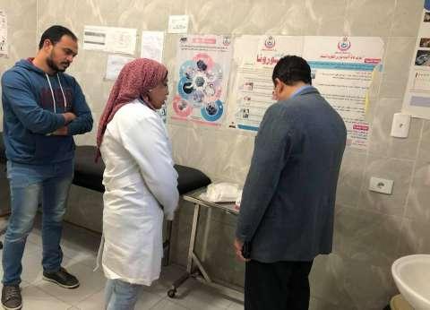 جولة مسائية مفاجئة لوكيل وزارة الصحة بالسويس بمستشفى الحميات