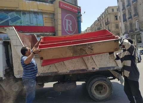 حي وسط في الإسكندرية يشن حملة لإزالة الباعة الجائلين