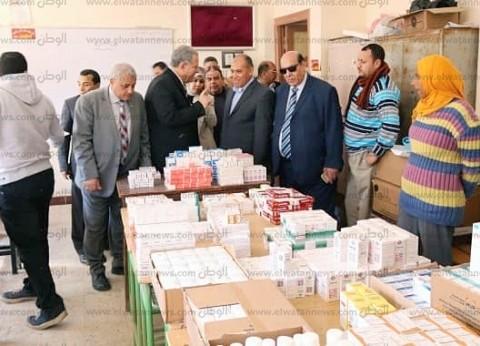 بالصور| جامعة طنطا تنظم قافلة طبية لعلاج مرضى قرية ميت حبيب بسمنود