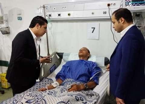 بالصور| وفد حزب مستقبل وطن يزور مصابي حادث قطار البدرشين في الجيزة