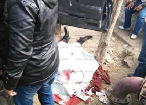 النيابة تعاين مكان الهجوم الإرهابي على سيارة شرطة بالبدرشين