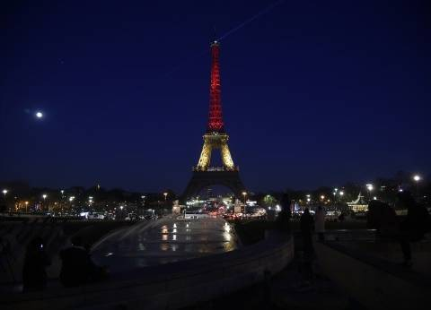 "بالصور| برج إيفل يتضامن مع ضحايا ""تفجيرات بروكسل"""