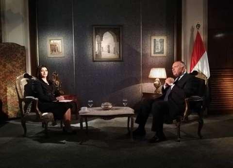 الليلة.. وزير الخارجية ضيف هناء السمري على التليفزيون المصري