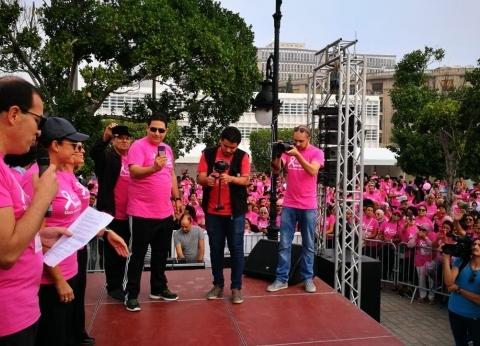 هند صبري تشارك في ماراثون للتوعية بسرطان الثدي فى تونس