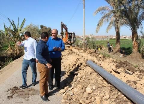 إحلال وتجديد خط مياه قرية أبو عزيز في المنيا