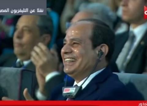 """السيسي: """"اللي تخلف عن النزول في الانتخابات ميلومش الرئيس اللي كسب"""""""