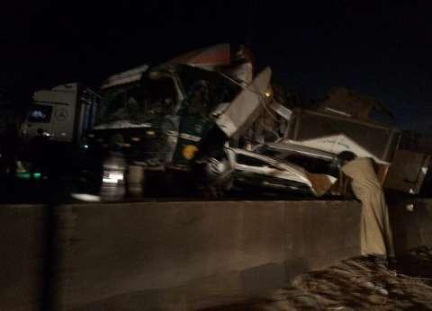 توقف الحركة المرورية بالطريق الزراعي إثر حادث تصادم بسنديون