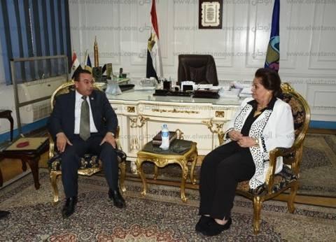 محافظ البحيرة تستقبل رئيس منظمة الشعوب والبرلمانات العربية