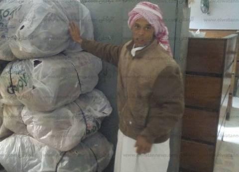 """""""تضامن مطروح"""" توزع طني لحوم و150 بطانية للمحتاجين بالضبعة"""