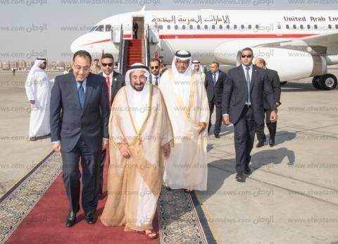 حاكم «الشارقة» يهدي المصريين 354 قطعة أثرية خلال زيارته مصر