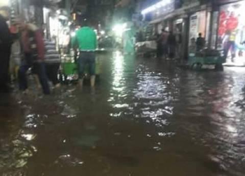 بالصور| طنطا تغرق في المياه بعد سقوط الأمطار