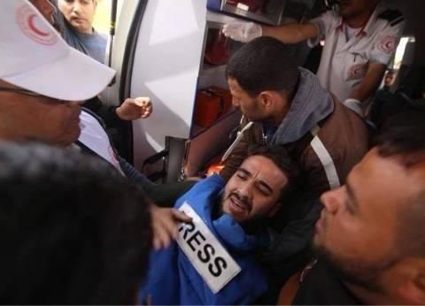 """إصابة 3 صحفيين فلسطينيين برصاص الاحتلال خلال تغطية """"مسيرة العودة"""""""