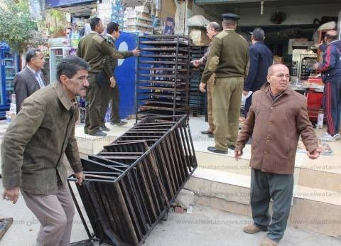 أمن الإسكندرية يضبط 79 حالة إشغال طريق
