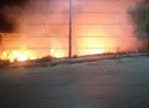 """""""الحماية المدنية"""" تسيطر على حريق بأرض زراعية في بني سويف"""