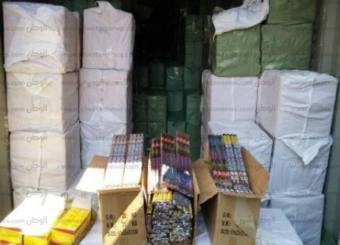 إحباط تهريب 2 مليون ونصف قطعة ألعاب نارية عبر ميناء دمياط